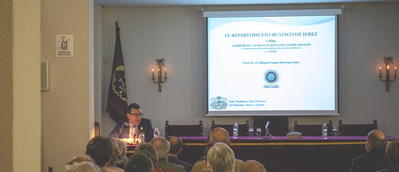 El Doctor Borrego diserta sobre el repartimiento rústico de Jerez