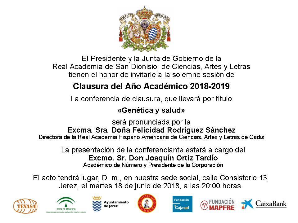 Acto académico del 18 de junio de 2019
