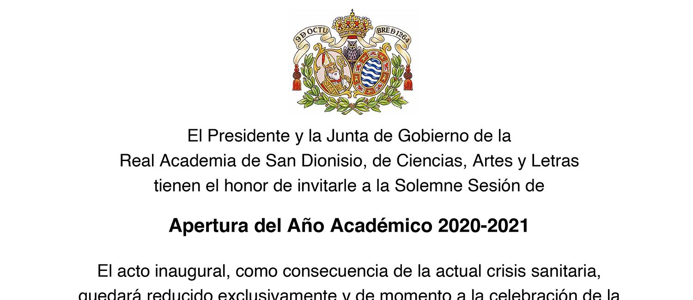 Apertura del Año Académico 2020-2021